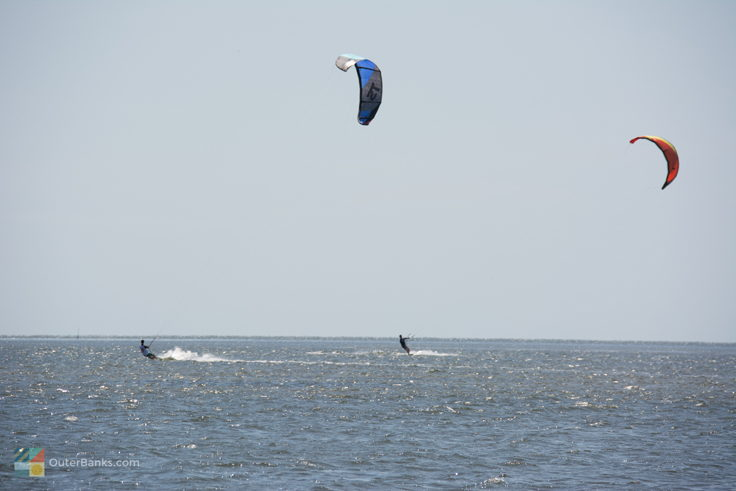 Kiteboarding in Pamlico Sound