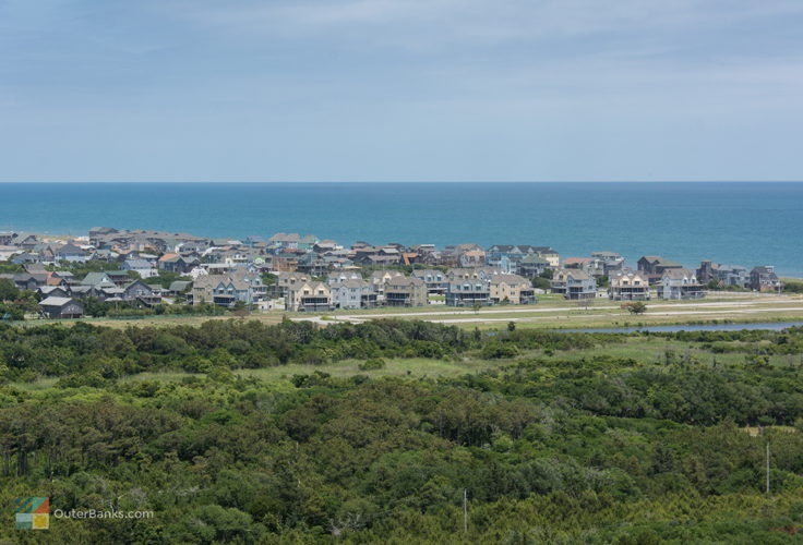 View of Buxton from Cape Hatteras Lighthouse