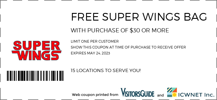 FREE SUPER WINGS BAG